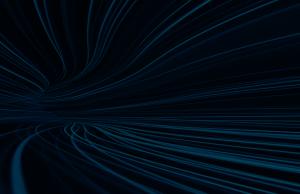 blue streaks over black background