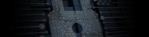 Circuitry over lock icon
